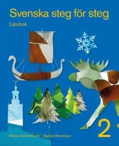 Svenska steg för steg 2 lärobok. Omslag: John Wasden.